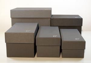 scatole per archiviazione verticale